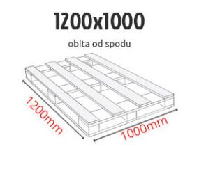 Paleta przemysłowa 1200 x 1000 obita od spodu